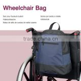 Topmedi portable Waterproof PVC Coated wheelchair accessories bag