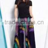 summer lady wide hips casual loose wide leg square dance pants