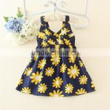 sun flower dot cotton beach girl dress strapless dresses for kids sexy girls boutique wholesale valentine's day dress