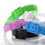 fragrant fashion silicone belts with removeable buckle
