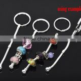 Wolesale 5 PCs Silver Plated Key Chain&Key Rings For European Beads 10cm