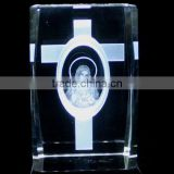 High quality 3D laser engraving crystal with religion gift