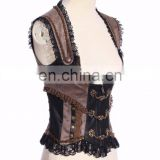 Steam punk open bust top corset