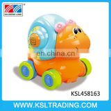 Cartoon animal radio control car snail toy with light and music