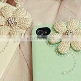 Fashion alloy accessories with pearl for mobile phone beauty&jewelry