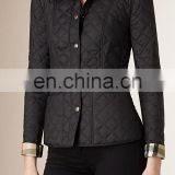 wholesale quilted jackets - WOMENS LADIES GENUINE LEATHER QUILTED RIBBED BOMBER BIKER JACKET