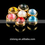 8mm Colorful Plastic Pearl and Alloy Decoration Pearl Rivet for Garment
