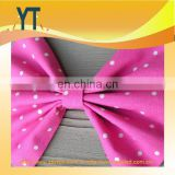 Pink Fabric polka dot Hair Bow