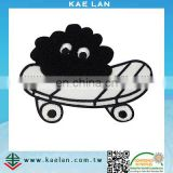 Cartoon skateboard applique embroidered badge