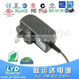energy efficiency level VI power adapter ac to dc 5v 9v 12v 24v 0.5a 1a 1.5a adaptor with EU US AU KR plug