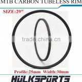 Bicycle Carbon Rims 29ER Mountain Bicycle Rim Carbon Rims For Sale 30mm Width Tubuless Hookless 29 Carbon Rim