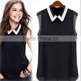 Instyles HOT SALE EUROPEAN WOMEN BLOUSE, CHIFFON BLOUSE, SLEEVELESS boutique clothing Clothing