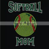 Bling balls mom hotfix softball mom rhinestone transfer