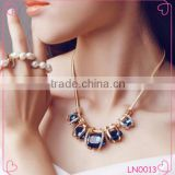 Imitation chunky necklace accessories for women gold plated crystal pendant necklace                                                                         Quality Choice