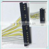 Black Color Connector 4Pair Twisted Yellow and White of Custom Wire Harness
