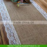 7ft Pretty Hessian and Lace Table Runners Wedding Decorations