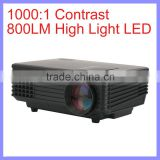 40W 800LM High Bright LED 20 To 80 inch Screen 1080P Mini LED Projector
