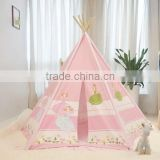 Pink Princess Child Tent + 100 Ocean Balls Kids Game House Wave Balls Indoor And Outdoor Play Tent ,Girl Gift