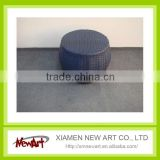 Round black single rattan outdoor chair
