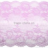 20 cm Width Elastic Lace Trim Trimming Fabric for Lingerie Dress Mesh Jacquard Lace Fabric
