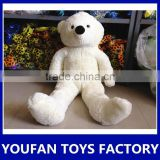Hot sale stuffed animal white big plush teddy bear toy
