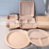 Disposable bamboo fiber tablewares