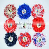 Fashion headband lace flower decorate - ballerina lace rhinestone flower