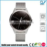 Domed and anti-reflective sapphire crystal screw down case back premium Polished steel Polished Milanese mesh strap watch