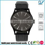 3 Hand Japan movment quartz big scale dial stainless steel case with genuine leather strap watch