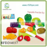 Kitchen Food Play Toy 12PCS Cutting Vegetable Fruit Knife For Kids Baby Gift