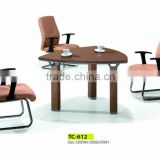 2015 commercial simple small office customised meeting table for 3 people mdf wood desk origin item TC 155