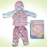 100% cotton baby gift set suit 3pcs winnie the pooh and Tigger printing