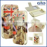 [GGIT] Factory Wholesale Flag Pattern with Diamond Phone Flip Cover Case Universial Leather Case