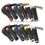high quality bicycle handlebar grip mountian bike grip with alloy bar end