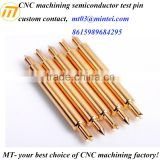 CNC machining gold-plated brass electric spring contact pin