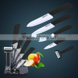 "Ceramic knife/Knife set, 6pcs Gift Set 3""+4 ""+5 ""+6 ""+Ceramic peeler +Acrylic holder paring fruit knives"