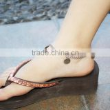 Wholesale Stainless Steel Blank Round Tag Ankle Bracelet Silver Foot Jewelry