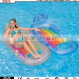 Wholesale colorful fantastic pool lounge chair inflatable swimming mattress