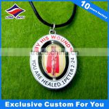 Printing Spin Pendent Tag Custom Design Bespoke Logo Dog Tags with Epoxy Custom Lanyard Dog Tags