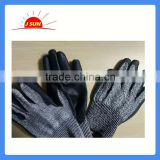 Anti-cut impact protection work gloves with PU coating cut resistant