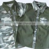 wholesale kids clothes summer short sleeve top camouflage shirt for children