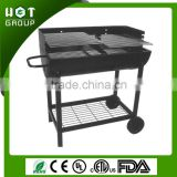 Large charcoal rotating barbecue bbq grill