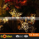 12 LED Christmas decoration star solar string Light                                                                         Quality Choice