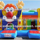 classical Clown inflatable jumper and slide combo castle for kids SP-CM035