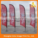 2016 Promotional Advertising knitted silk outdoor teardrop beach flags,flying feather flag