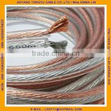 transparent 2X4MM flat speaker wire 10awg Speaker Cable