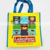 Customized Recycle RPET Bags, Yellow PP Woven Fabric Shopping Bag