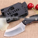 9CR18MOV stainless steel small fixed blade hunting knife razor knife with G10 handle and Kydex sheath