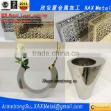 XAX49LC mirror stainless steel vase laser cutting