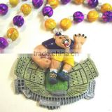 Mardi Gras Throw Beads Poly Medallion Necklace